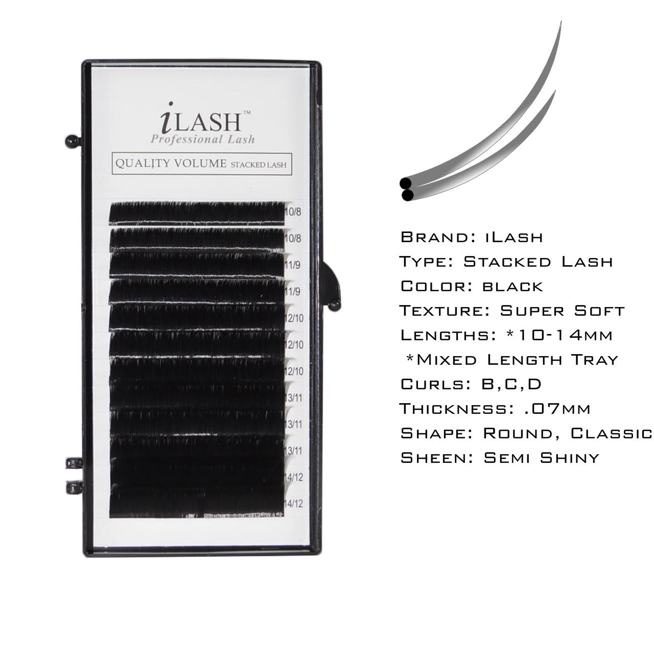 a95f35aecb4 iLash Stacked Lash - Mixed Length Tray - iLashstore.com
