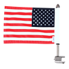 """#RFM-SQ with 6""""x9"""" USA highway flag for Harley sport rack"""