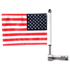 "#RFM-RDVM with 9"" pole, standard cone topper and 6""x9"" USA highway flag"