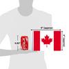 "6""x9"" Canada flag (size comparison view)"