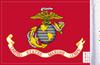FLG-MAR  U.S. Marine Corps 6x9 flag (BACK)