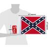 """10""""x15"""" Dixie Confederate flag (size comparison view)"""