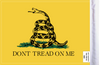 FLG-DTOM Gadsden Don't Tread on Me 6x9 flag (BACK)