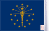 FLG-IN  Indiana Flag 6x9 (BACK)