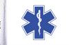FLG-EMS  Star of Life 6x9 flag
