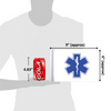 """6""""x9"""" EMS Star of Life flag (size comparison view)"""