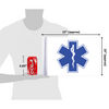 """10""""x15"""" EMS Star of Life flag (size comparison view)"""