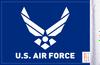 FLG-AFL U.S. Air Force (wings) 6x9 flag (BACK)