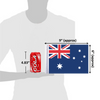 """6""""x9"""" Australia flag (size comparison view)"""