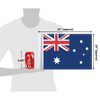 """10""""x15"""" Australia flag (size comparison view)"""
