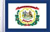 FLG-WV  West Virginia flag 6x9