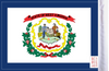 FLG-WV  West Virginia flag 6x9 (BACK)