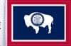 FLG-WY  Wyoming flag 6x9