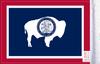 FLG-WY  Wyoming flag 6x9 (BACK)