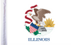 FLG-IL Illinois Flag 6x9