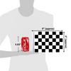 "6""x9"" Checkered flag (size comparison view)"