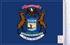 FLG-MI  Michigan Flag 6x9 (BACK)