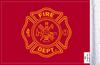 FLG-FIRF Firefighter 6x9 flag (BACK)
