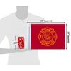 "10""x15"" Fire Dept / Firefighter flag (size comparison view)"