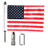 "#RFM-FLD with 9"" pole, standard cone topper and 6""x9"" USA flag (components)"