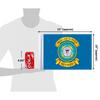 "10""x15"" RETIRED U.S. Coast Guard flag (size comparison view)"