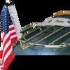 "#RFM-RDHB51IN  .51"" flag mount on Indian Pinnacle Trunk Rack (rack not included)"