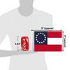 "6""x9"" Confederate Stars and Bars flag (size comparison view)"