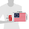 """6""""x9"""" Betsy Ross flag (size comparison view)"""