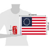 """10""""x15"""" Betsy Ross flag (size comparison view)"""
