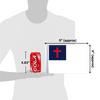 """6""""x9"""" Christian flag (size comparison view)"""