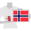 "10""x15"" Norway flag (size comparison view)"