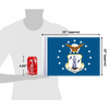 "10""x15"" Air National Guard flag (size comparison view)"