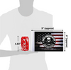 """6""""x9"""" 2nd Amendment Homeland Security flag (size comparison view)"""
