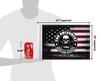 """10""""x15"""" 2nd Amendment Homeland Security flag (size comparison view)"""