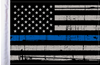 FLG-PTBL  USA Grunge Thin Blue Line 6x9 flag