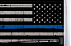 FLG-PTBL  USA Grunge Thin Blue Line 6x9 flag (BACK)