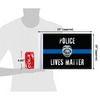 "10""x15"" Police Lives Matter flag (size comparison view)"
