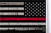 "FLG-GTRL-US Grunge USA Red Line 6""x9"" flag (BACK VIEW)"