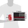 """6""""x9"""" Grunge Red Line flag (size comparison view)"""