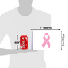 """6""""x9"""" Pink Ribbon Cancer flag (size comparison view)"""