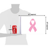 """10""""x15"""" Pink Ribbon Cancer flag (size comparison view)"""