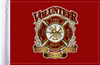 FLG-VFD  Volunteer Fire Dept 6x9 flag