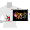 """10""""x15"""" Some Gave All - Eagle (size comparison view)"""
