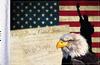 FLG-CONEG  USA Eagle & Constitution flag 6x9