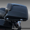 PTPX-SPRSLM-BG  Black Gloss SuprSlim Tour Pack on Harley (top view)