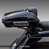 PTPX-SPRSLM-BG Black Gloss SuprSlim Tour Pack with chrome latches on Harley