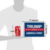 "6""x9"" Trump 2020 America First (size comparison view)"