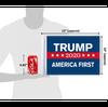"10""x15"" Trump 2020 America First (size comparison view)"