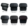 "Slim/SuprSlim backrest options; Cruzer ""King"" tour pack comes with standard King wraparound backrest only."