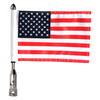 """Folding flag mount with 9"""" pole, standard cone topper & 6""""x9"""" highway flag (assembled)"""